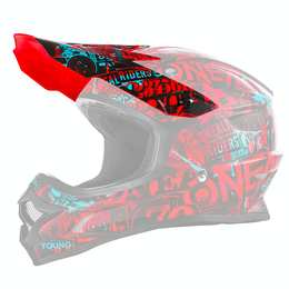 Spare Visor 3SRS Helmet ATTACK black/red/teal