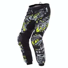 ELEMENT Youth Pants ATTACK black/neon yellow 26 (12/14)
