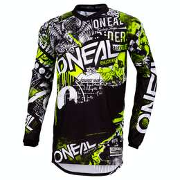 ELEMENT Jersey ATTACK black/neon yellow L