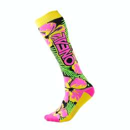 Oneal Pro MX Sock ISLAND pink/green/yellow (One Size)