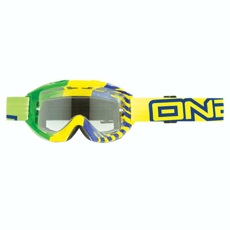 Oneal B1 RL Goggle OKINAWA green/yellow clear